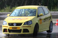 Jackie Weiss is testing the VW POLO with ADAC,Germany